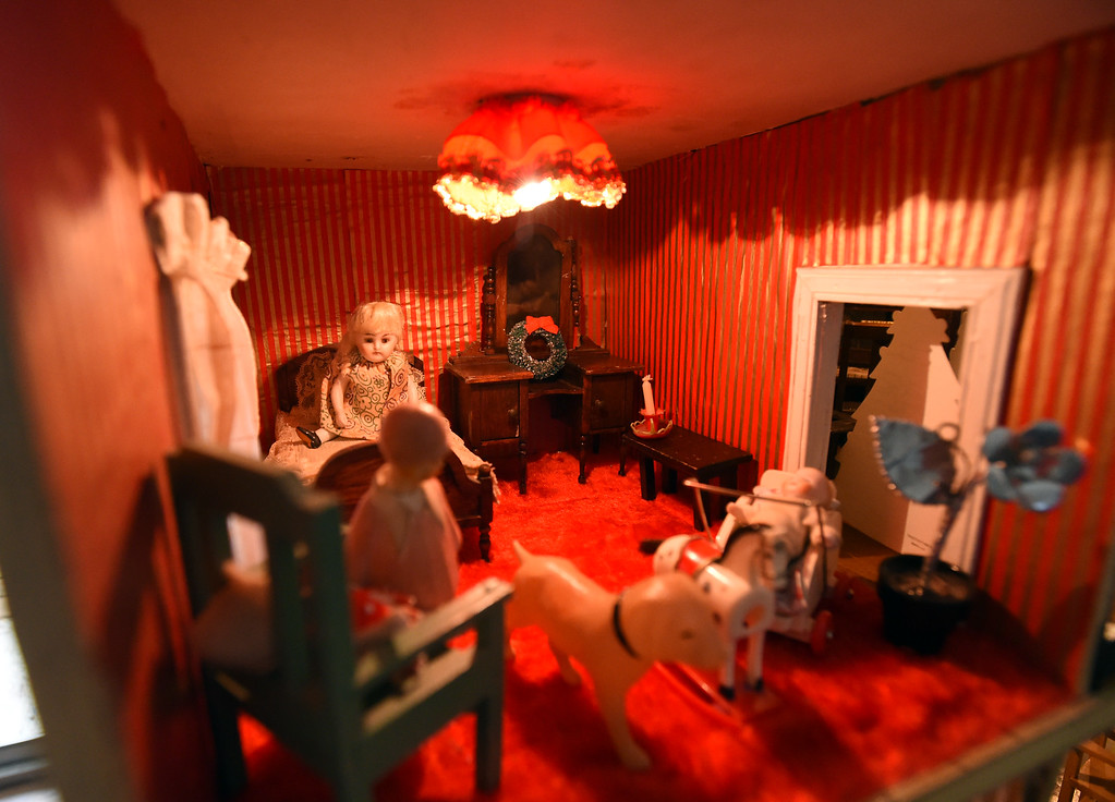 . A detail shot of one of the rooms in the dollhouse. Doris Hass, 97, of Boulder, still has  the dollhouse her father and paternal grandfather built for her around 1925 when the family lived on Long Island in New York.  Cliff Grassmick  Photographer January 12, 2018