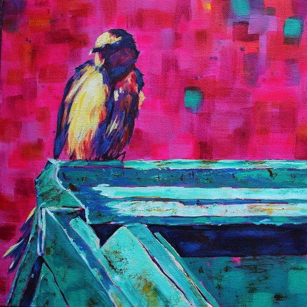 """""""Bird on a Hot Tin Roof"""" - Sold"""