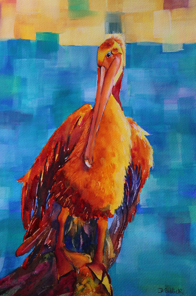 """In All Her Feathered Glory"" - SOLD"