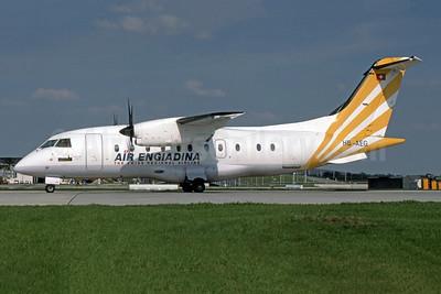 Air Engiadina Dornier 328-110 HB-AEG (msn 3011) MUC (SPA). Image: 950721.