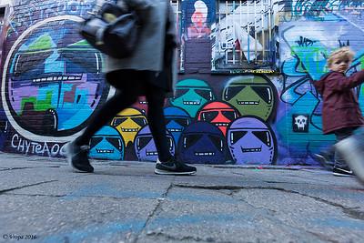 Graffitistraatje in Gent