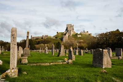 Corfe Castle across God's Acre