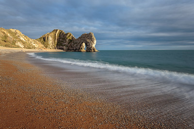 Waves in evening sun, Durdle Door