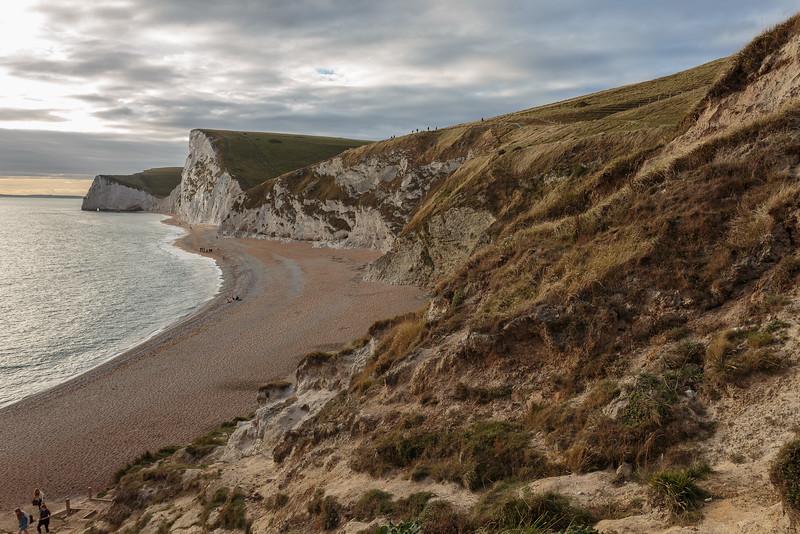 White cliffs at Durdle Door