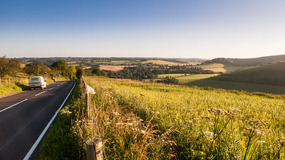 The top road over the Downs