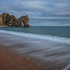Waves breaking on Durdle Door beach