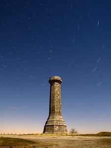 Star trails over Hardy's Monument