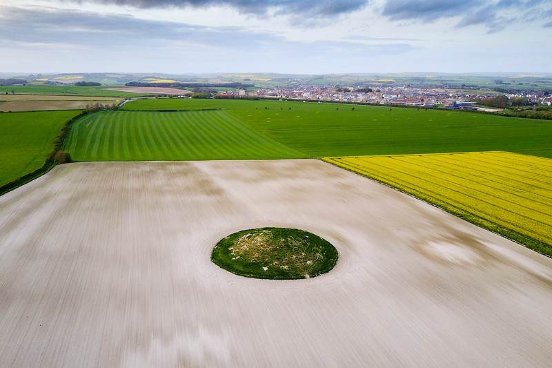 Round barrow on the Dorset Downs