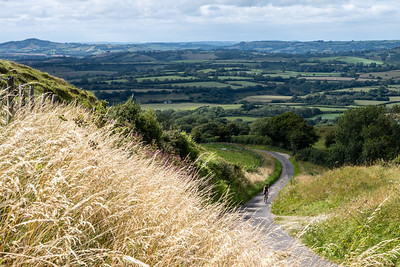 Cycling on Eggardon Hill
