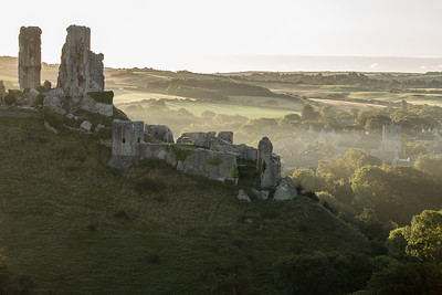 Sunrise over the Castle, Corfe