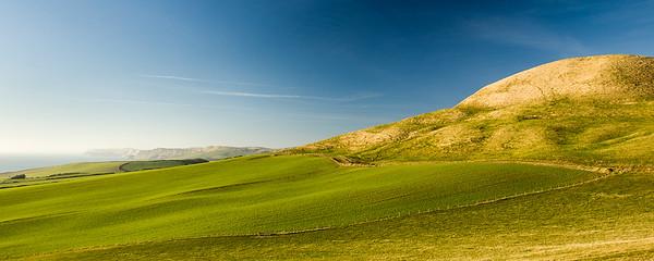 Rolling Dorset landscape on the Jurassic Coast