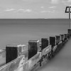 Swanage groyne with post