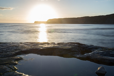 Kimmeridge sunset pool