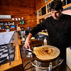 KRISTOPHER RADDER — BRATTLEBORO REFORMER<br /> Nash Patel makes a dosa inside their new location at 32 Elliot St., in Brattleboro, on Thursday, Jan. 30, 2020. Dosa Kitchen, which features South Indian soul food, will have its grand opening on Saturday, Feb. 1, 2020.