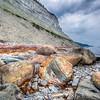 HDR au pied de la falaise du Puyjalon, rive nord d'Anticosti
