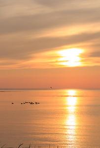 Coucher de soleil à la Baie-Sainte-Claire, Anticosti
