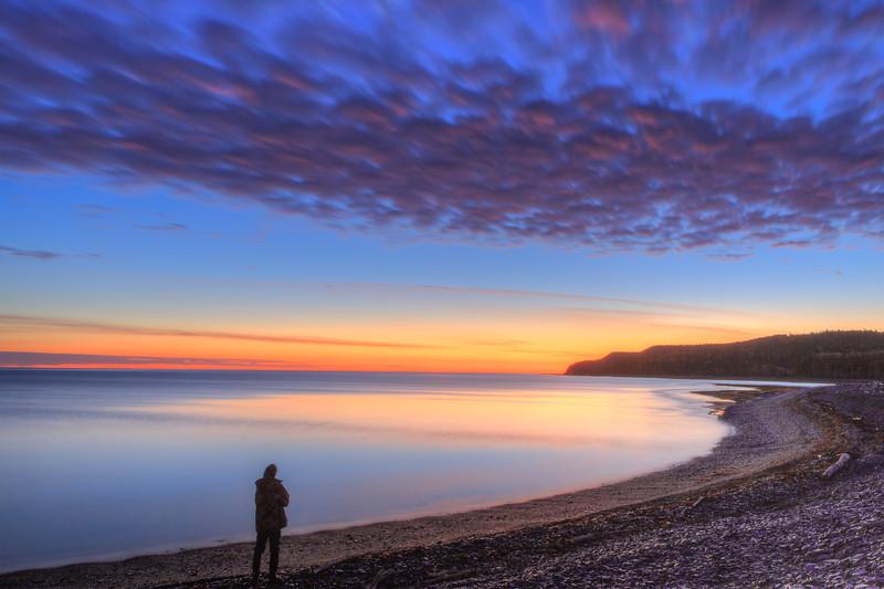 Autoportrait à l'aube, baie McDonald, 19 octobre 2017