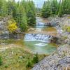 Piscine naturelle dans le haut de la rivière Patate, Anticosti
