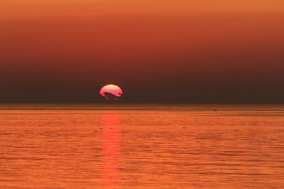 Coucher de soleil, Baie-Sainte-Claire, Anticosti
