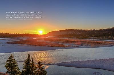 Extrait du poème de Louis-H Taché, rivière Jupiter 1918