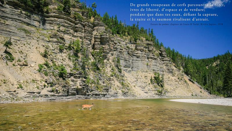 Extrait d'un poème de Louis-H Taché, rivière Jupiter 1918
