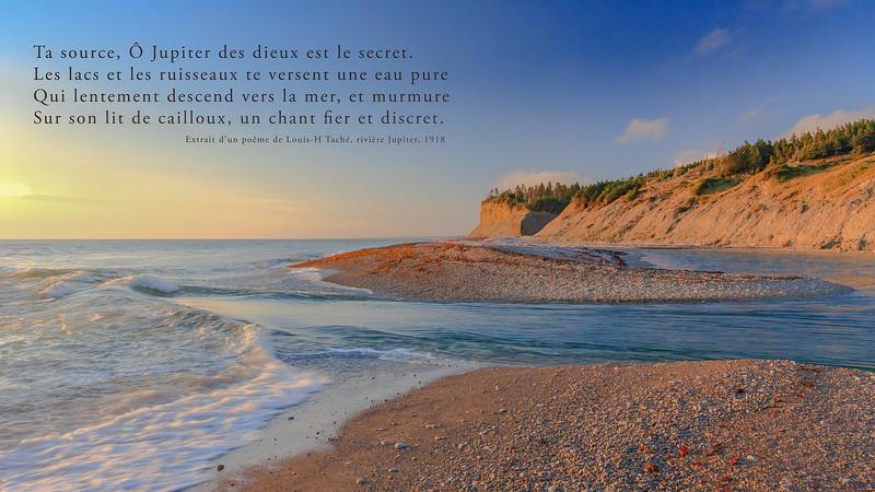 Extrait d'un poème de Louis-H Taché , rivière Jupiter 1918