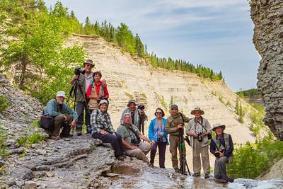 Deuxième groupe du safari photo 2018 à Anticosti, semaine du 30 juillet au 6 août.