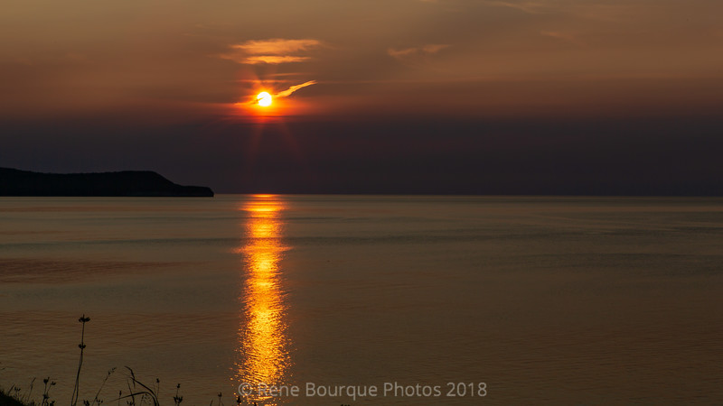 Coucher de soleil, Pointe Carleton, Anticosti rive nord