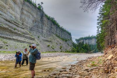 HDR, Photographes en pleine action dans le canyon Vauréal