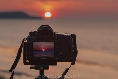 Double expositions au coucher de soleil, Pointe Carleton