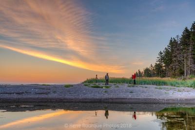 Baie aux Capelans. En attendant le lever de soleil