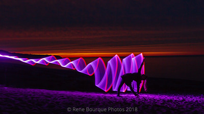 Light painting-safar -photo-anticosti