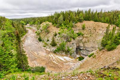 Début du canyon Observation Ouest, Parc national d'Anticosti
