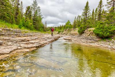 Piscine dans la rivière Observation ouest, Parc National d'Anticosti