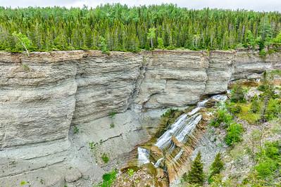 Chute de la rivière Observation est, Parc national d'Anticosti