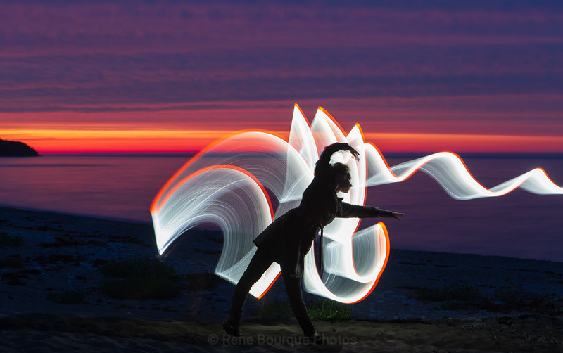 Light painting during the 2018 photo tour on Anticosti island