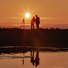 Photographers at sunrise, photo safari  anticosti