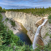 The Vaureal fall and canyon, Anticosti island