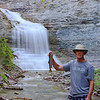 fisherman, trout fishing, waterfall, anticosti island