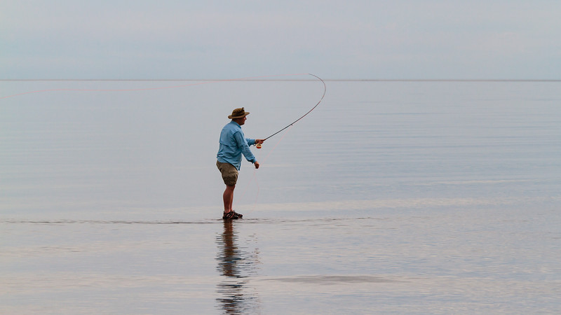 Fly fishing, walk on water, anticosti island, photo safari