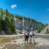 Hiking in the Vaureal canyon, Anticosti Island
