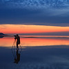 Reflexion at sunset, west cliff, anticosti photo safari