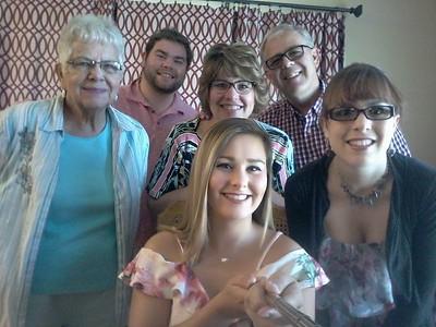 Celebrating Elizabeth's 21st birthday with the Biaglow family in Wapakoneta, OH - August 27, 2017