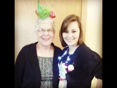 Christmas 2016 - Grandma and Elizabeth