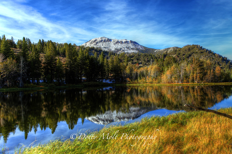 First Snow on Mt. rose reflected in Tamarac Lake