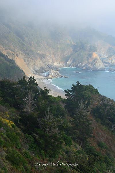 Foggy Shoreline, Big Sur, California