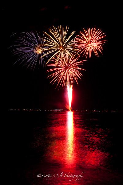 Fireworks over Tahoe