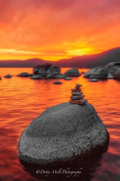 Stoned Orange Sunset