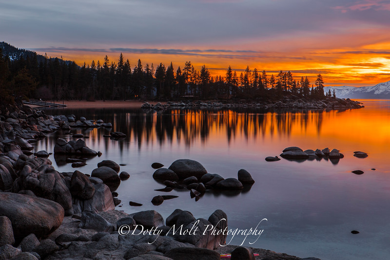 Sand Harbor Sunset Rift