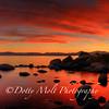 Bonsai Rock Fiery Sunset, Lake Tahoe, NV